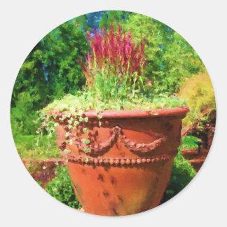 In the Garden Round Sticker