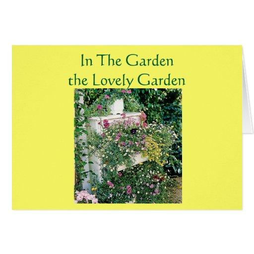 In The Garden The Lovely Garden Birthday Card Zazzle