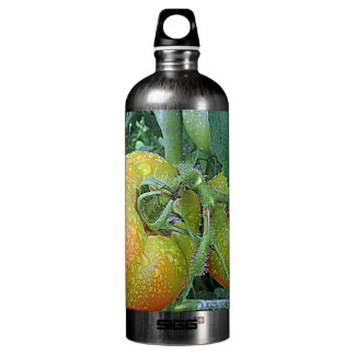In The Garden Tomatoes Shop Local Photo Design Water Bottle