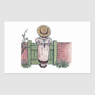 In The Garden - Vintage Woman Illustration Stickers