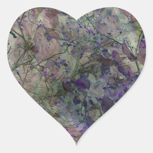 In the Garden Where the Faeries Go Heart Sticker