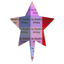 In the God's Army Star-Shaped Cake Topper
