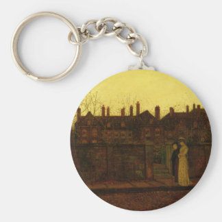 In the Golden Gloaming by John Atkinson Grimshaw Basic Round Button Keychain