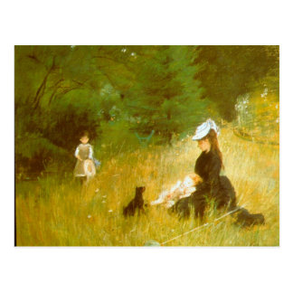 In the Grass by Berthe Morisot Post Card