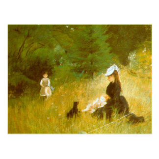 In the Grass by Berthe Morisot Post Cards