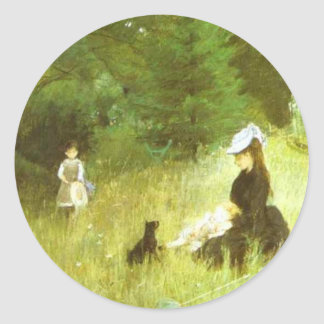 In The Grass Classic Round Sticker
