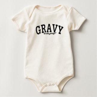 In the Gravy!  NAVY SPOOF Baby Bodysuit