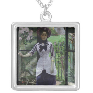 In the Greenhouse, 1881 Silver Plated Necklace