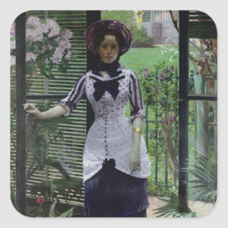 In the Greenhouse, 1881 Square Sticker