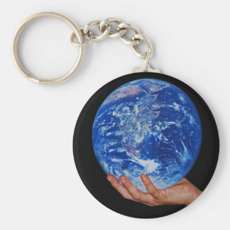 In the hand of God Basic Round Button Keychain