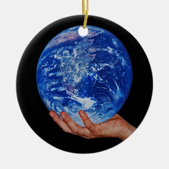 In the hand of God Ceramic Ornament