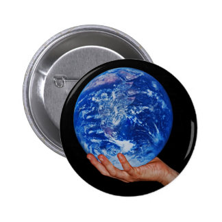 In the hand of God Pinback Button