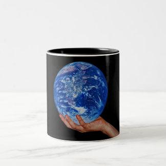 In the hand of God Two-Tone Coffee Mug