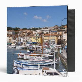 In the harbour in Cassis village. Fishing and 3 Ring Binder