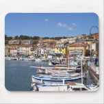 In the harbour in Cassis village. Fishing and Mouse Pad