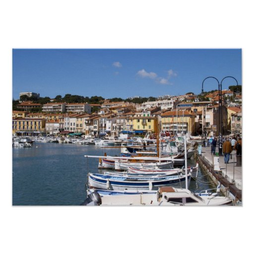 In the harbour in Cassis village. Fishing and Poster