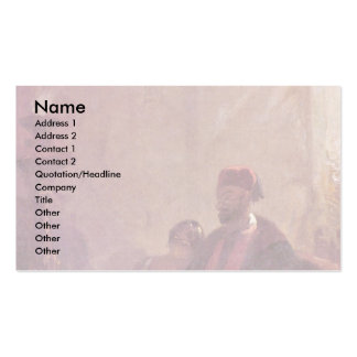 In The Harem By Spitzweg Carl Business Card