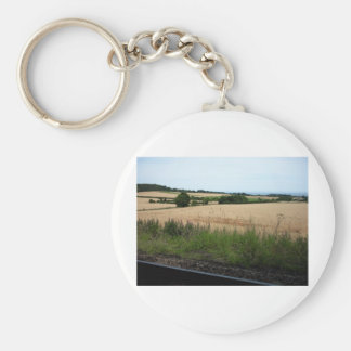 In the heath basic round button keychain