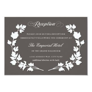 In the Herb Garden Wedding Reception Card