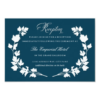 In the Herb Garden Wedding Reception Card Personalized Invitation