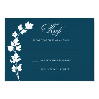 In the Herb Garden Wedding Response Card RSVP