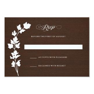 In the Herb Garden Wedding Response Card RSVP Custom Invitation