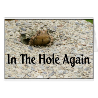 In The Hole Again Greeting Card
