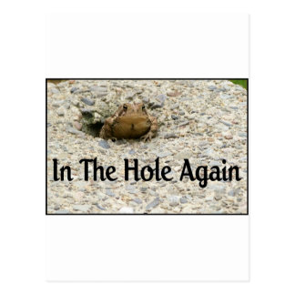 In The Hole Again Postcard