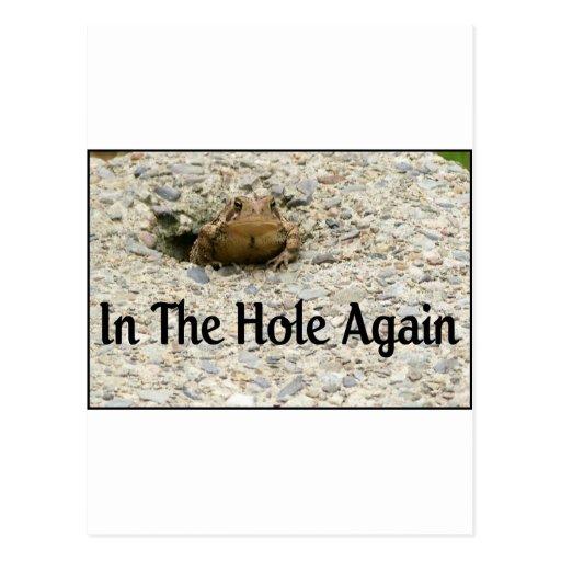 In The Hole Again Postcard