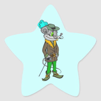 In The Hood Mouse Star Sticker
