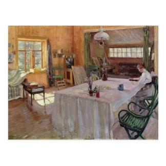 In the House of the Artist Konstantin Korovin Postcard