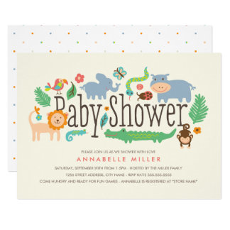 In the Jungle Baby Shower Invite