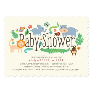 """In the Jungle Baby Shower Invite 5"""" X 7"""" Invitation Card"""