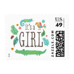 In the Jungle Baby Shower Stamp