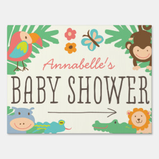 In the Jungle Baby Shower Yard Sign Lawn Sign