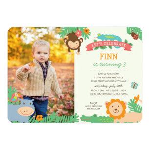Jungle birthday invitations announcements zazzle in the jungle birthday party invite stopboris Image collections