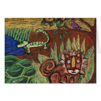 In the Jungle-Greeting Card