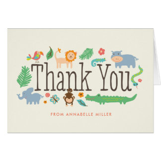 In the Jungle Thank You Cards
