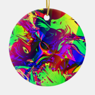 In the Jungle, the Mighty Jungle Double-Sided Ceramic Round Christmas Ornament