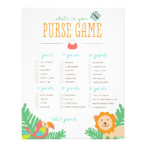 In the Jungle What's in Your Purse? Game Flyer