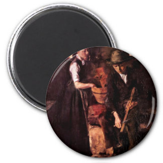 In The Kitchen (Kitchen In Kutterling) By Leibl Fridge Magnet