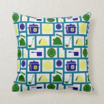 In the kitchen throw pillows