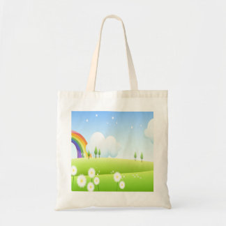 In the land of Rainbows Budget Tote Bag