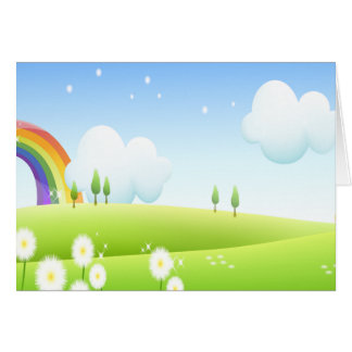 In the land of Rainbows Card
