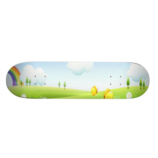 In the land of Rainbows Custom Skate Board