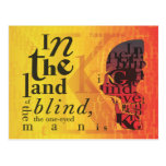 In the land of the blind... post cards