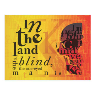 In the land of the blind... postcard