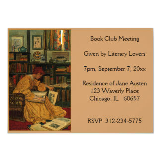 In the Library, Book 4.5x6.25 Paper Invitation Card