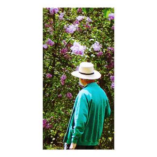 In the Lilac Garden Custom Photo Card