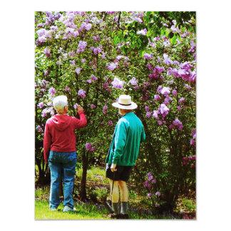"In the Lilac Garden 4.25"" X 5.5"" Invitation Card"
